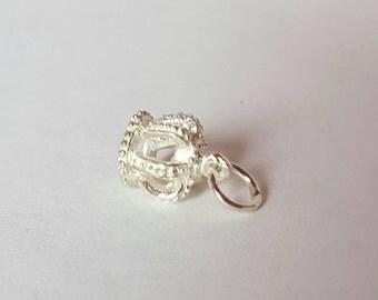 Vintage charm silver Crown