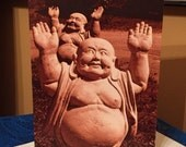 Funny Greeting Card Touchdown! Happy Buddha Congratulations