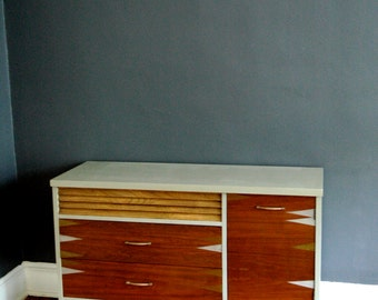 SOLD   One-of-a-kind Refinished Mid Century Credenza