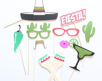 10 pc *Fiesta Photobooth Props/Fiesta Party/Photobooth Props