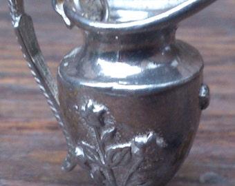 large vintage sterling silver jug charm/pendant
