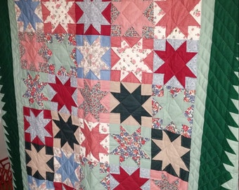 Star Lap Quilt or wall hanging
