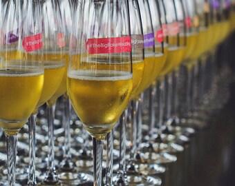 Custom Wedding Party Favors Hashtag Labels~Custom Wedding Drink Markers~Custom Wedding Wine Charms~Wedding Hashtag~Set of 18 drink markers