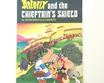 Vintage Asterix Book / Asterix and the Chieftain's Shield by Goscinny and Uderzo / Vintage Comic