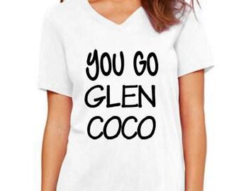 You go Glenn Coco women v neck tshirt lovely size s to 2xl