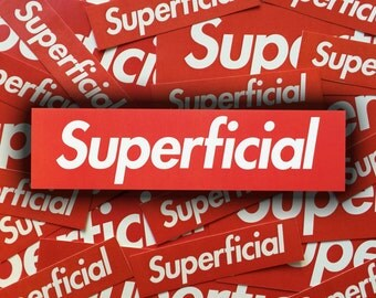Supreme Themed Superficial Sticker