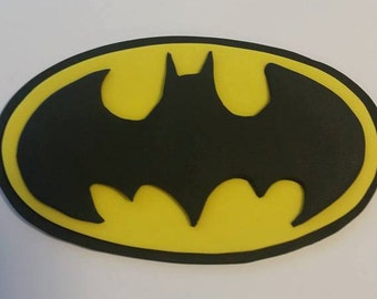 Batman DC Comic Book Superhero Fondant Edible Cake Topper