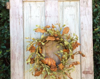Pumpkin wreath for front door, Fall Wreath, Pumpkin Wreath, Thanksgiving Wreath, Rustic Fall Wreath,Fall door wreath,Fall wreath for door