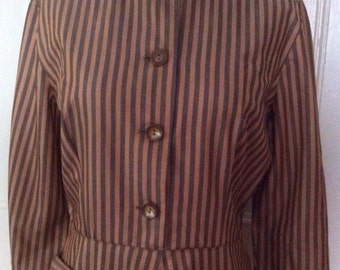 "Vintage 1940's/50's Stripe Dress, ""Like New"""