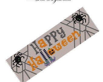Happy Halloween Peyote Bracelet Pattern