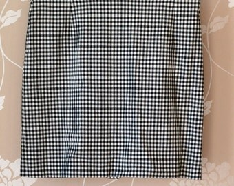 90s black and white gingham mini skirt by Mexx