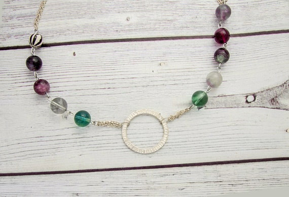 Detoxify - fluorite necklace, healing crystal necklace, fluorite crystal, chakra necklace, mineral jewelry, natural gemstone necklace