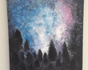 Nightscape Acrylic Painting (20x16)
