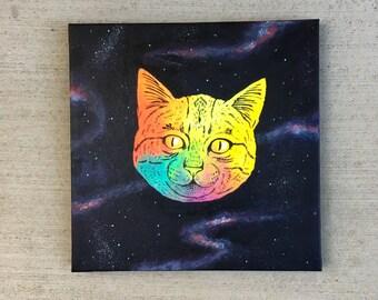 Space Cat Original Painting
