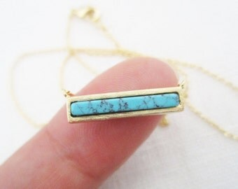 Gold bar necklace...dainty handmade necklace, everyday, simple, birthday, wedding, bridesmaid jewelry