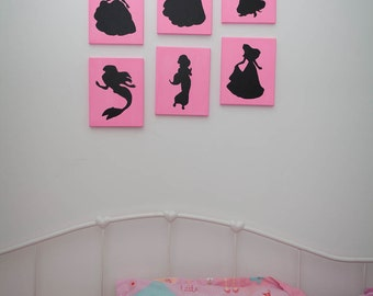 Hand Painted Canvas Art - Princess Edition