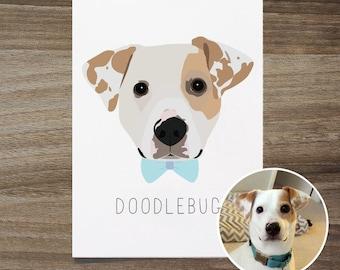 Custom Dog Portrait With Accessory, Custom Dog Portrait, Pet Portrait, Adorable Pet Art Print, Dog Lover Gift, Custom Dog Art