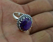 Purple Turquoise Stone Ring - Purple Copper Turquoise Gemstone Rings,Purple Turquoise Jewelry,925 Sterling Silver ring, Midi Ring, Gift Ring