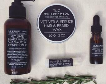 Vetiver & Spruce Beard Kit