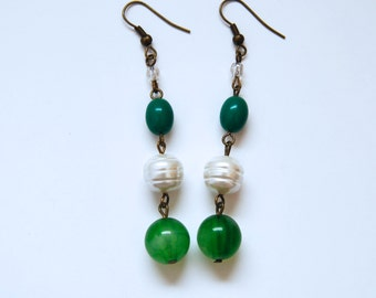 Green Olive Earrings
