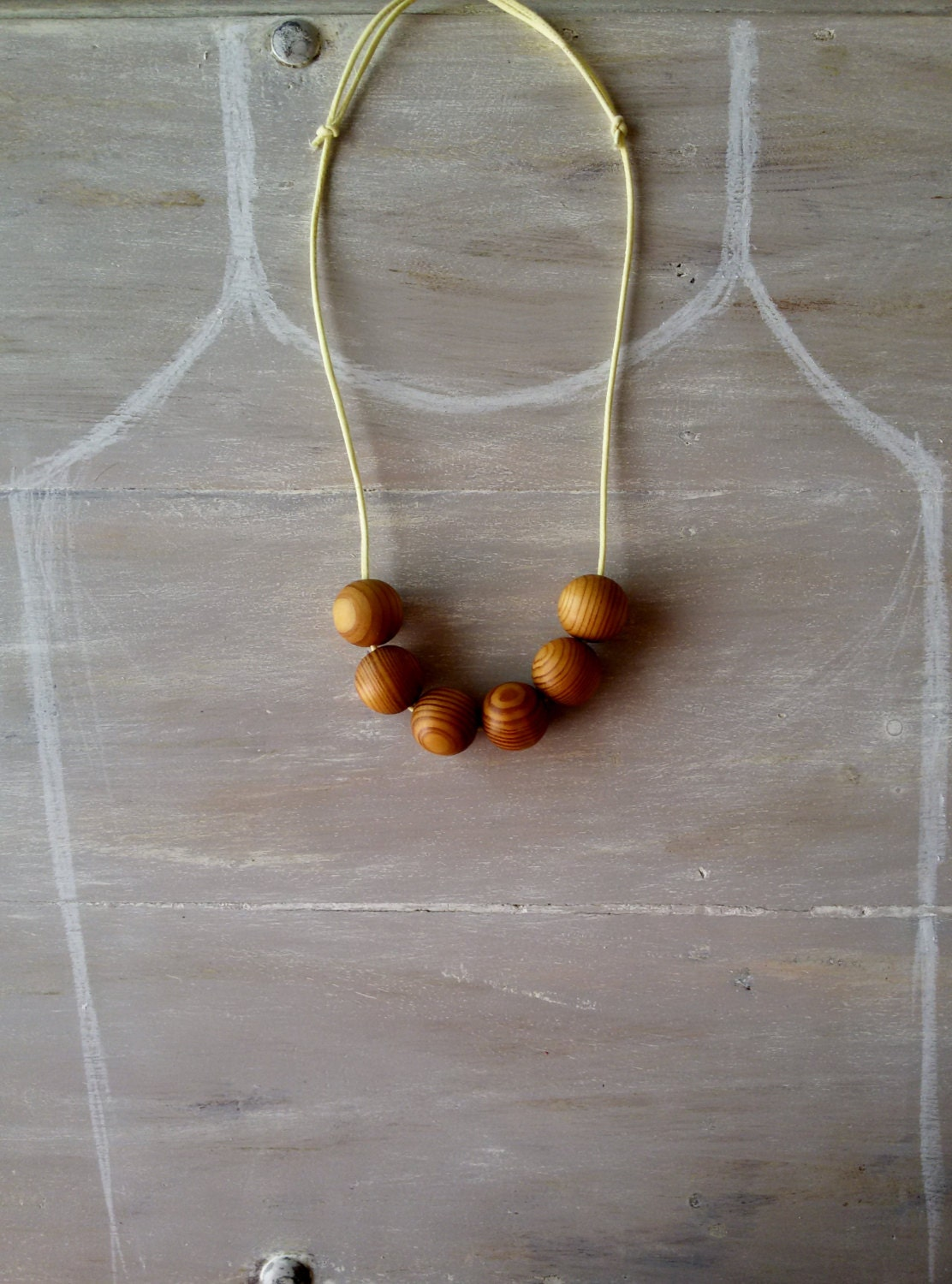 chunky wooden bead necklace 30mm wooden bead necklace