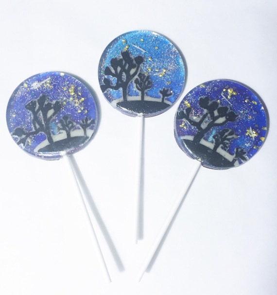 3 Joshua Tree Night Sky Lollipops