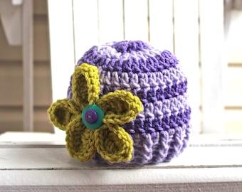 Crochet Girl Hat, Baby Girl Hat, Little Girl Hat, Flower Hat, Flower Beanie, Women Hat, Kids Hat, Toddler Hat, Child Hat, Infant Hat
