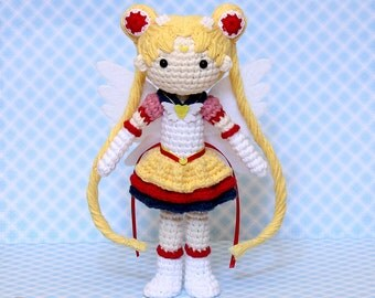 Eternal Sailor Moon Plush Amigurumi Doll (Crochet Pattern Only, Instant Digital Download), Senshi, Usagi Tsukino