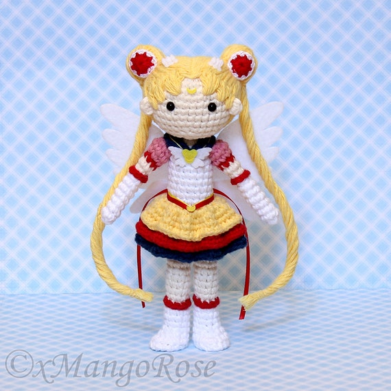 Moon Amigurumi Pattern Free : Eternal Sailor Moon Plush Amigurumi Doll Crochet Pattern