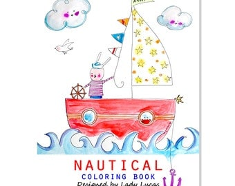 Nautical Coloring Book Printable PDF