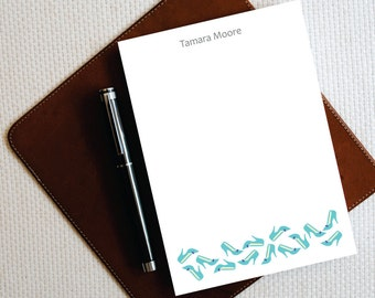 Personalized Notepad –  Chic SHOES Stationary Notepad - Personalized Stationery - Womens Stationery