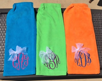Single Adult Embroidered Personalized Terry Velour Bath Wraps