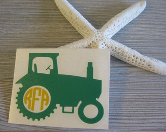 Awesome Tractor Monogram Car Decal   Monogram Tractor Car Decal   Monogram Car Decal    Monogram Decal Part 23