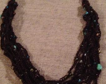 multi strand crochet necklace