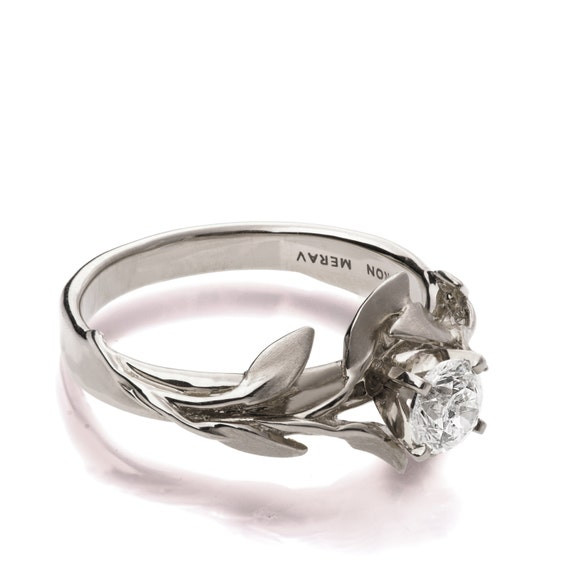 leaves engagement ring no 4 18k white gold and
