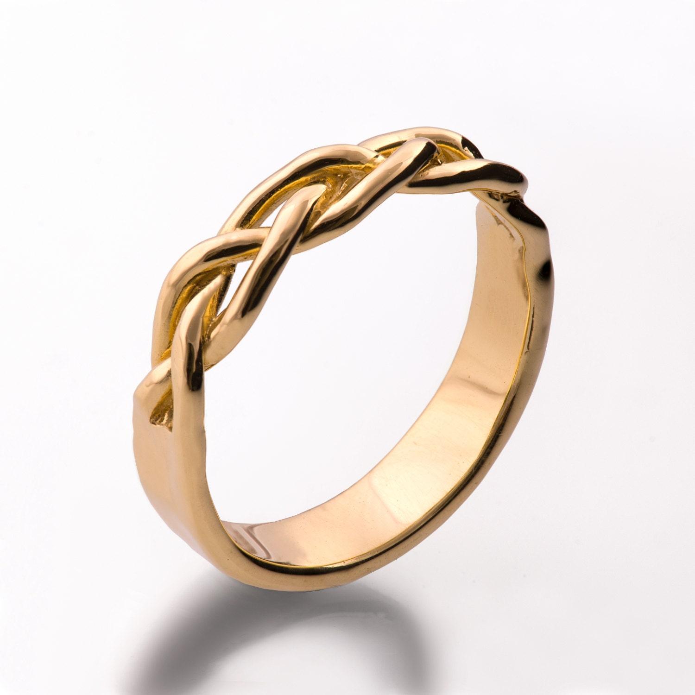braided ring 18k gold wedding ring wedding band 18k gold