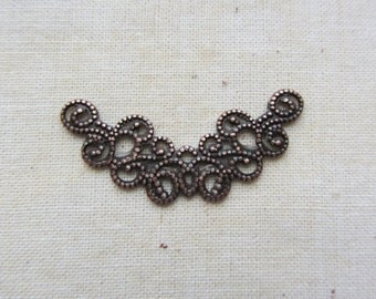 Filigree findings connector 10 pcs