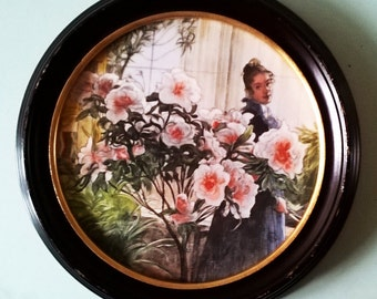 "Exquisite Royal Copenhagan Hand Painted Limited Edition Plaque - ""Azaleas"""