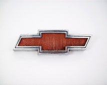 "Vintage Chevrolet Car Truck Bowtie Bow Tie Grill Emblem Ornament Chevy Bow Tie 7 1/4"""