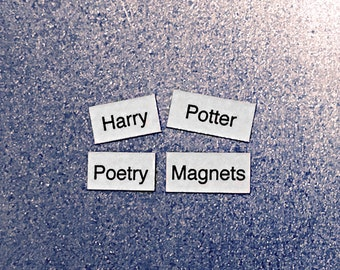 Harry Potter Refrigerator Magnets, Poetry Word Magnets, Free Gift Wrap