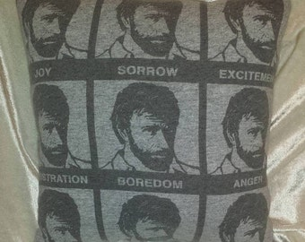 chuck norris t shirt pillow