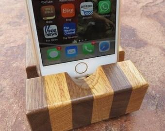 iPhone Docking Station - Hardwood Combo w/ Locking Cable