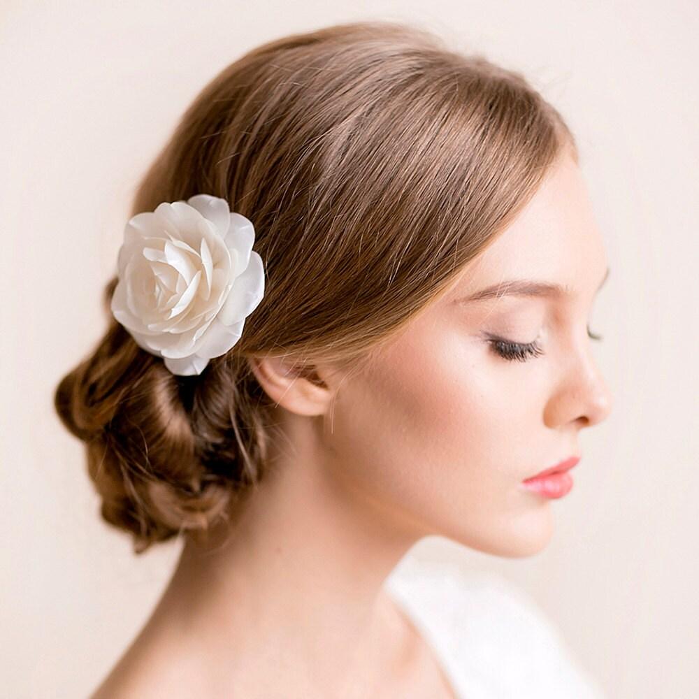 bridal hair flower rose bridal rose hair flower flower