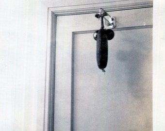 Vintage Photo..The Curious Doorbell 1950's, Original Photo, Old Photo Snapshot, Abstract Vernacular Photography, American Social History