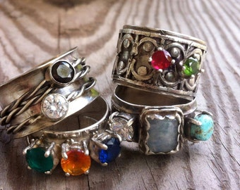 Custom Mothers and/orDaughters Gemstone Ring