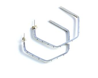 Silver Hex Earrings