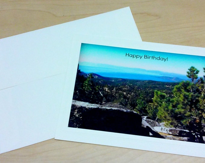 BIRTHDAY Greeting Card, Handmade Blank Inside Photo Stationary, Panoramic Photography, Gender Neutral, Printed Text, Coordinating Envelope