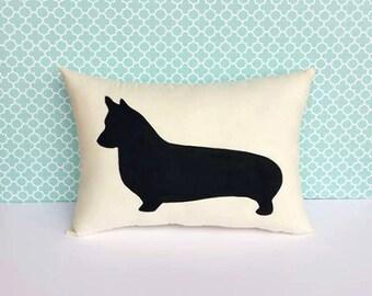 Corgi,Welsh Corgi Dog Silhouette Throw Pillow, Decorative Pillow, Dog Pillow, Dorm Decor, Christmas Gift, Gift for Her, Gift for Mom