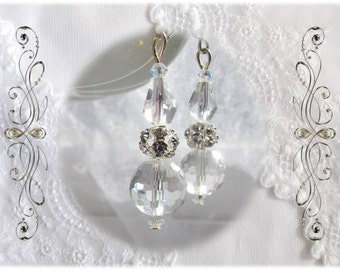 Brilliant Swarovski-Accented Frozen Icicle Earrings, Silver Finished Earwires