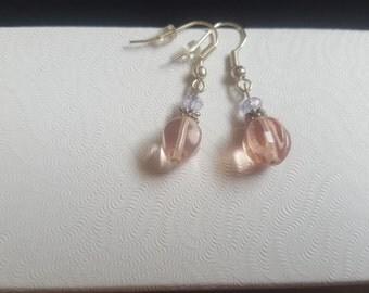 Graceful Pink Drop Earrings